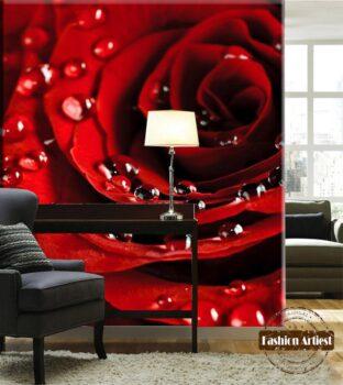 3d Room Wallpaper Hd Sofa Merah Simple