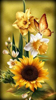 3d Spring With Sunflower Art Wallpaper Hd